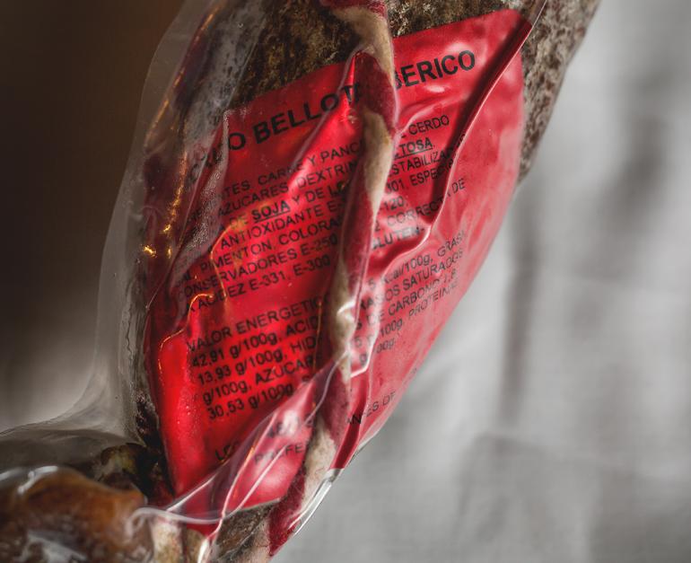 Chorizo cular ibérico bellota extra