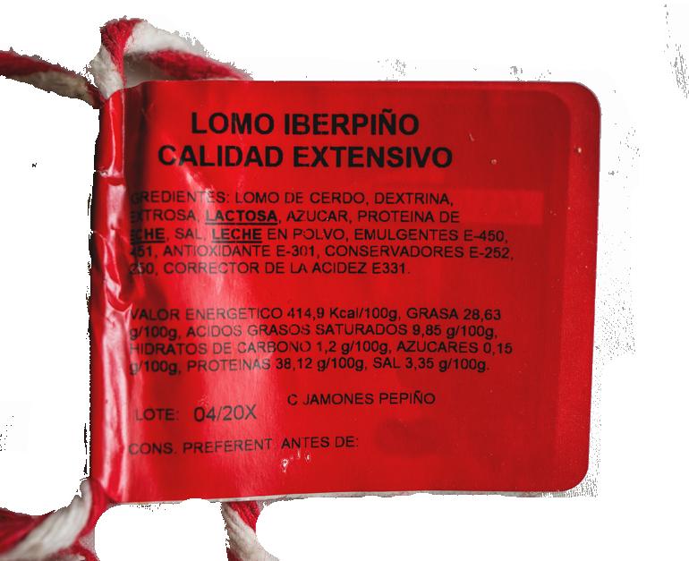 Lomo cebo ibérico Pepiño